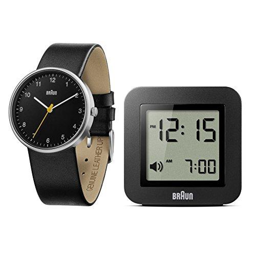 Braun Herren Uhren Geschenkset Analog Leder BN0231BKBK BNC018BK