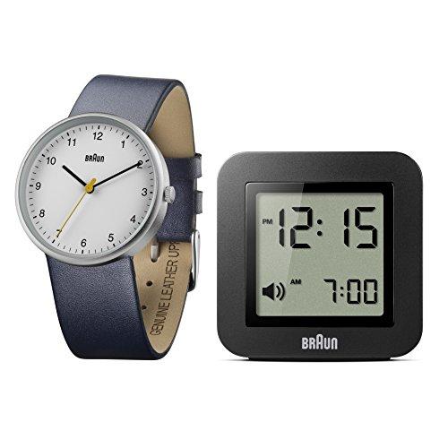 Braun Herren Uhren Geschenkset Analog Leder BN0231WHBL BNC018BK