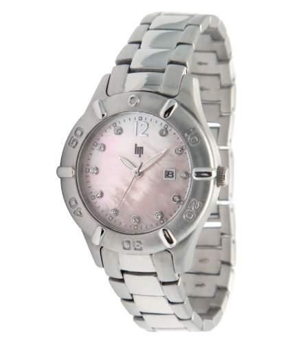Lip Style Damen-Armbanduhr Analog Edelstahl Silber 10839312