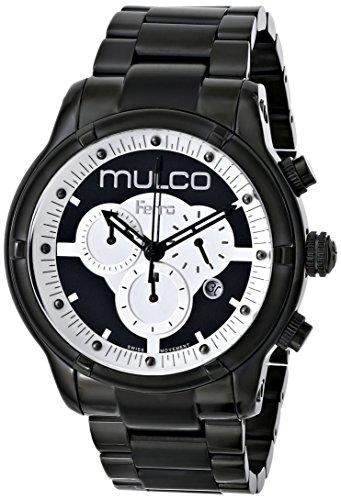 Mulco Ferro Mirror 46mm Armband Vergoldetes Edelstahl Gehaeuse Batterie MW52034020