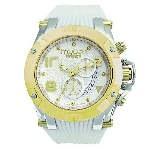 Mulco Unisex Kripton Kollektion Analoganzeige Schweizer Quarz Uhr Weiss MW5 2029 012