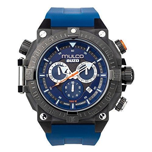 MULCO MB6 92565 045 Buzo Dive Edelstahl blau Silikon Band