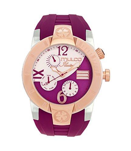 Mulco Unisex MW5 1877 523 ILUSION CRESCENT Analog Display Swiss Quartz Purple Watch