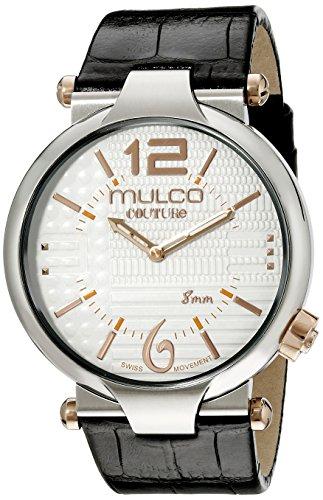 Mulco Herren MW5 3183 021 Couture Slim Analog Anzeigen Schweizer Quartz Schwarz Uhr