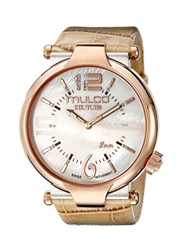 Mulco Damen MW5 3183 113 Couture Slim Analog Anzeigen Schweizer Quartz Beige Uhr