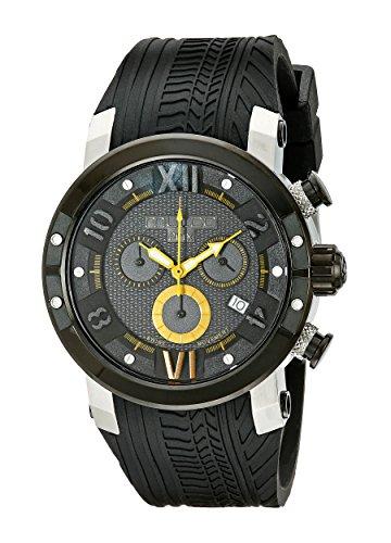 MULCO Mens MW5 3219 029 Prix Tire Analog Display Swiss Quartz Black Watch