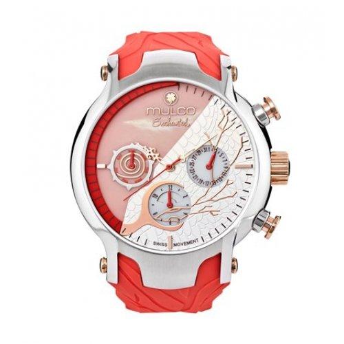 MULCO MW5 3812 633 weiblich Rosa Silikon Multifunktions Uhr