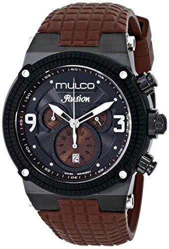 Mulco Unisex MW3 12140 035 Ilusion Brown Strap Black Dial Mens Watch
