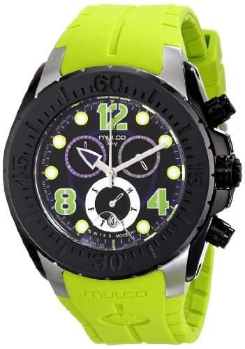 MULCO Unisex MW1-82197-715 Analog Display Swiss Quartz Green Armbanduhr