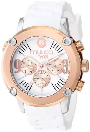 MULCO Womens MW2-28050-011 Analog Display Swiss Quartz White Watch