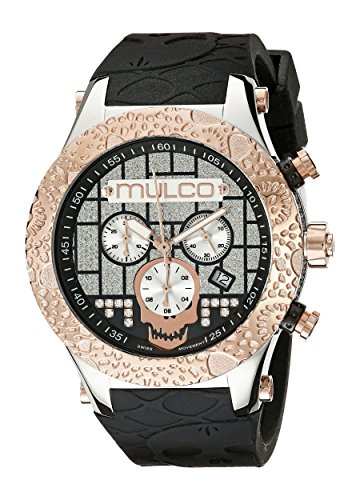 MULCO Mens MW5 2331 023 Couture Analog Display Swiss Quartz Black Watch