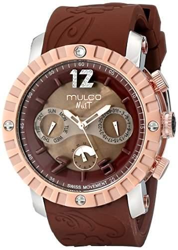 MULCO Unisex MW5-1876-033 Nuit Lace XL Analog Display Swiss Quartz Brown Armbanduhr