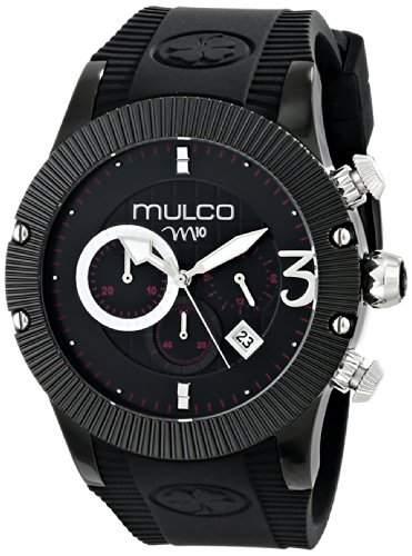 MULCO Unisex MW5-2828-025 Analog Display Japanese Quartz Black Armbanduhr