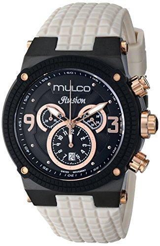 MULCO Unisex MW3 12140 115 Ilusion Analog Display Swiss Quartz Beige Watch