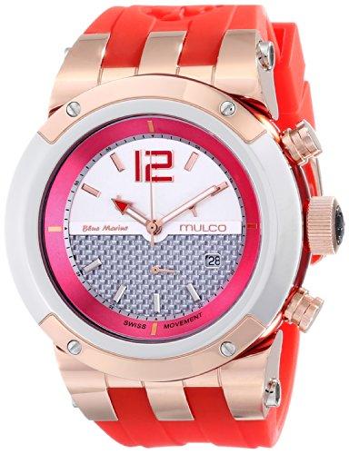 MULCO Unisex MW5 1621 061 Analog Display Swiss Quartz Red Armbanduhr