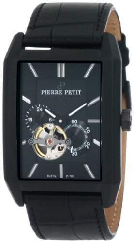 Pierre Petit Herren-Armbanduhr Paris Analog Automatik Leder P-781A