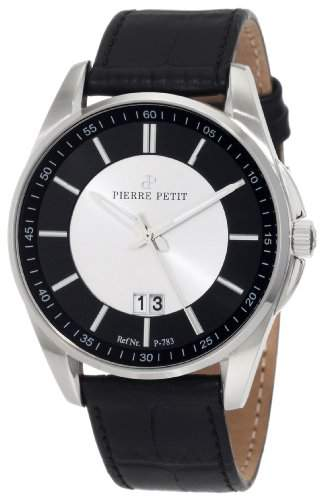 Pierre Petit Herren-Armbanduhr XL Le Mans Analog Leder P-783A