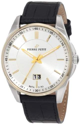 Pierre Petit Herren-Armbanduhr XL Le Mans Analog Leder P-783B
