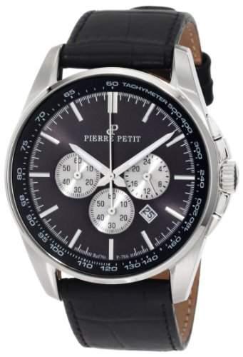 Pierre Petit Herren-Armbanduhr XL Le Mans Chronograph Leder P-786A