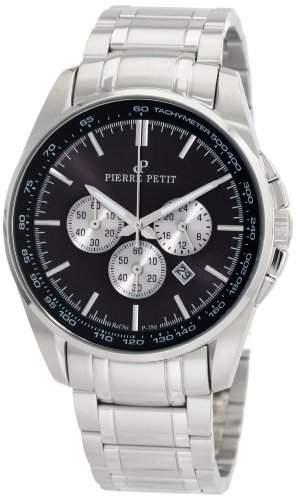 Pierre Petit Herren-Armbanduhr XL Le Mans Chronograph Edelstahl P-786D