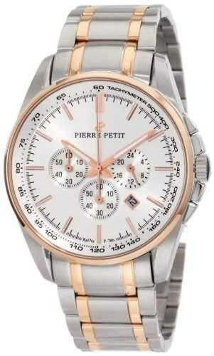Pierre Petit Herren-Armbanduhr XL Le Mans Chronograph Edelstahl P-786E