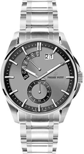 Pierre Petit Herren-Armbanduhr XL Le Mans Analog Quarz Edelstahl P-793D