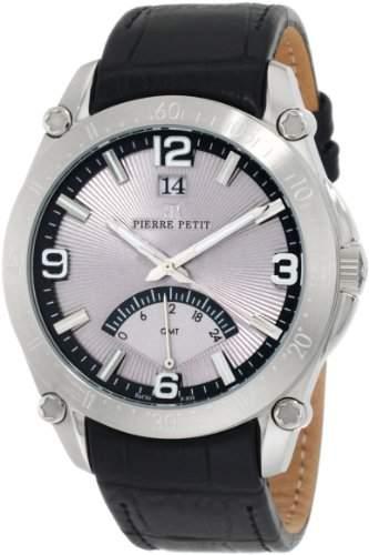 Pierre Petit Herren-Armbanduhr XL Le Mans Analog Leder P-806A