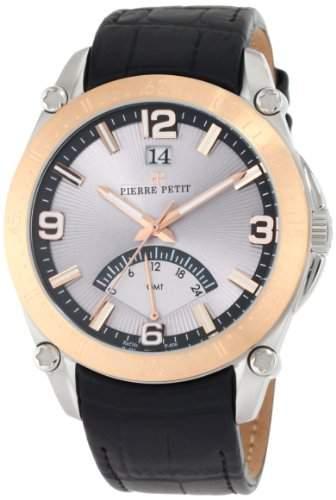 Pierre Petit Herren-Armbanduhr XL Le Mans Analog Leder P-806B