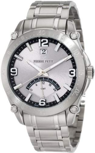 Pierre Petit Herren-Armbanduhr XL Le Mans Analog Edelstahl P-806C