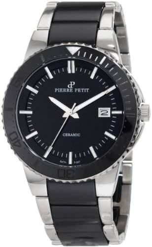 Pierre Petit Herren-Armbanduhr XL Colmar Analog Keramik P-807A