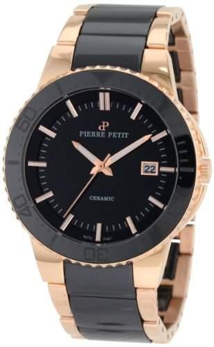 Pierre Petit Herren-Armbanduhr XL Colmar Analog Keramik P-807C