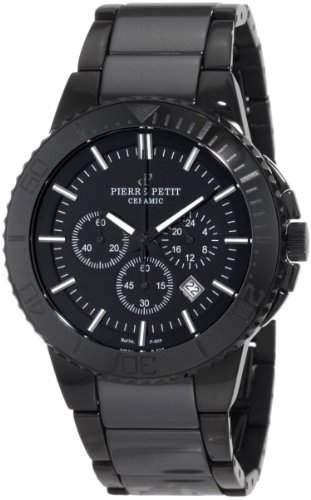 Pierre Petit Herren-Armbanduhr XL Colmar Chronograph Keramik P-809B