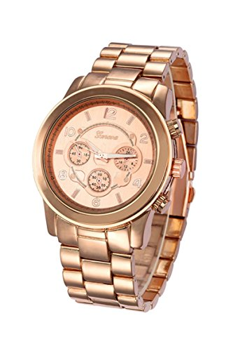 Armbanduhr GENEVA Unisex Edelstahl Band Armbanduhr Rose golden