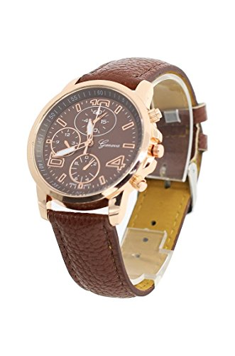 Armbanduhr Geneva Unisex Kunstleder Armbanduhr Braun