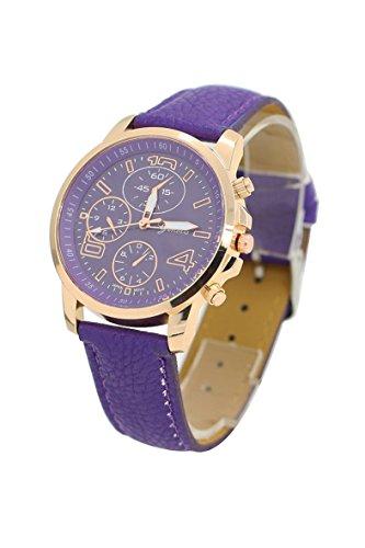 Armbanduhr Geneva Unisex Kunstleder Armbanduhr lila