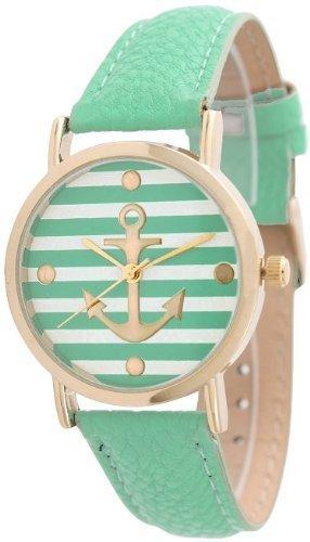 Geneva gestreift Anker Style Leder Mint