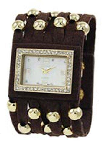 Designer inspiriert Color Block Leder watch black