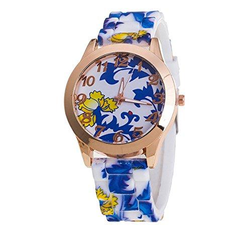 New Fashion Geneva Armbanduhr Silikon Blume Uhren