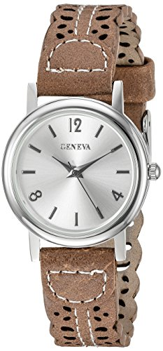 Geneva Damen Armbanduhr fmdx281 C Analog Display Japanisches Quartz beige
