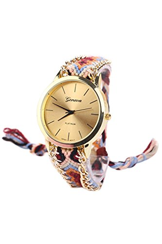 GENEVA Damen Geflochtene Kette Armbanduhr Modell 2