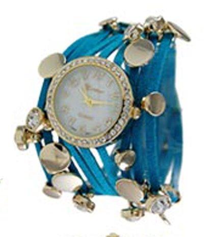 Geneva Drei String Wrap Armbanduhr Tuerkis