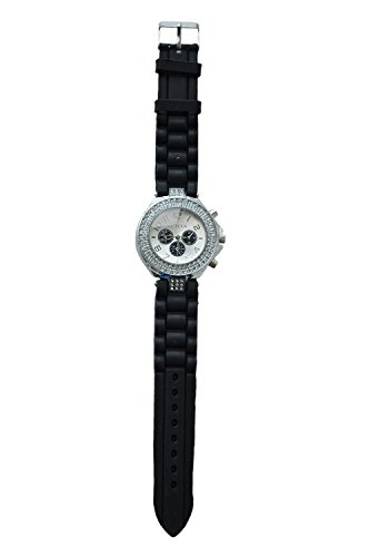 GENEVA Silikon Kristall Quarz Frauen Gelee Armbanduhr schwarz