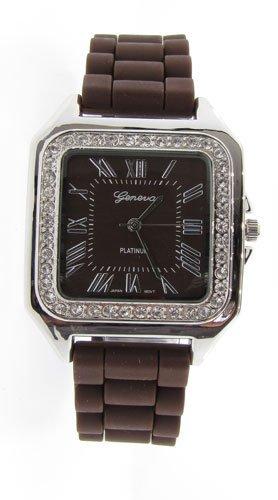 roemischen Ziffern quadratisch Face Jelly Watch