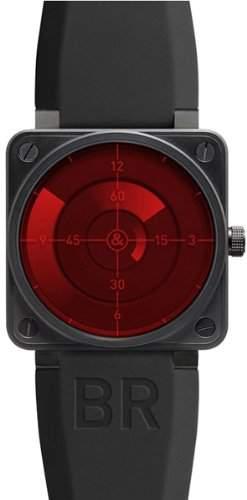 Bell and Ross Herren-Armbanduhr Automatik BR01-92-RED-RADAR