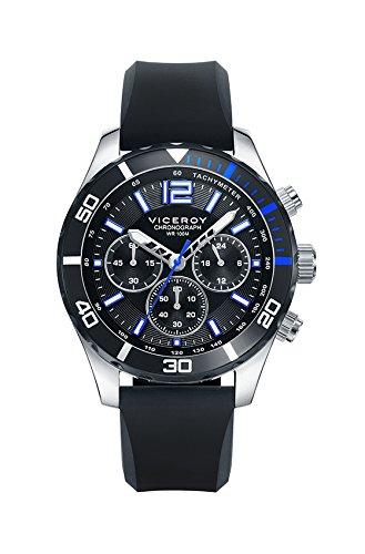 Sehen Sie Viceroy 401023 55 Silikon Chronograph Black Man