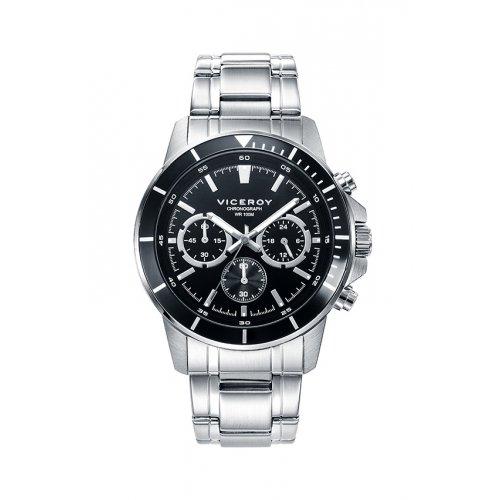 Sehen Sie Viceroy 401041 57 Stahl Chronograph Black Man