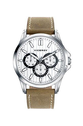 Sehen Sie Viceroy 42249 07 Multifunktions Leder White Man