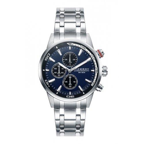 Sehen Sie Viceroy 46685 37 Chronograph Steel Blue Man
