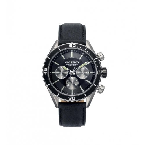Sehen Sie Viceroy 471041 57 Stahl Titan Chronograph Leder Mann