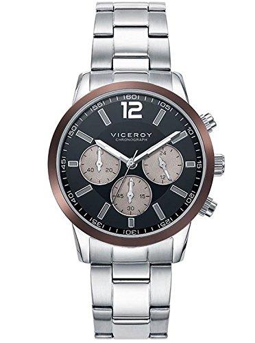 Sehen Sie Viceroy 471051 55 Stahl Chronograph Herren Brown